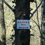 indique les parcours de l'AAPPMA sur le domaine privé